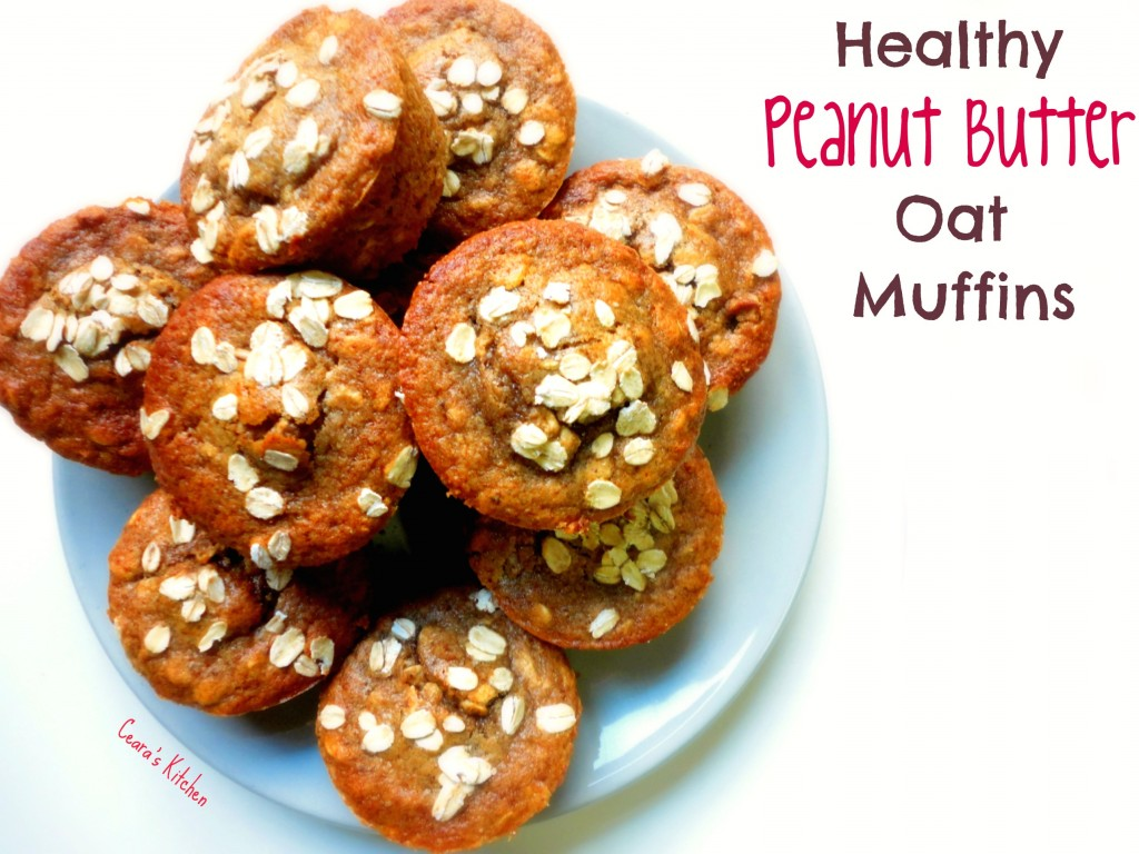 Healthy Peanut Butter oat muffins main text