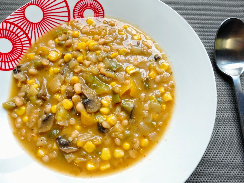 White Bean Chili With Winter Vegetables Recipe — Dishmaps