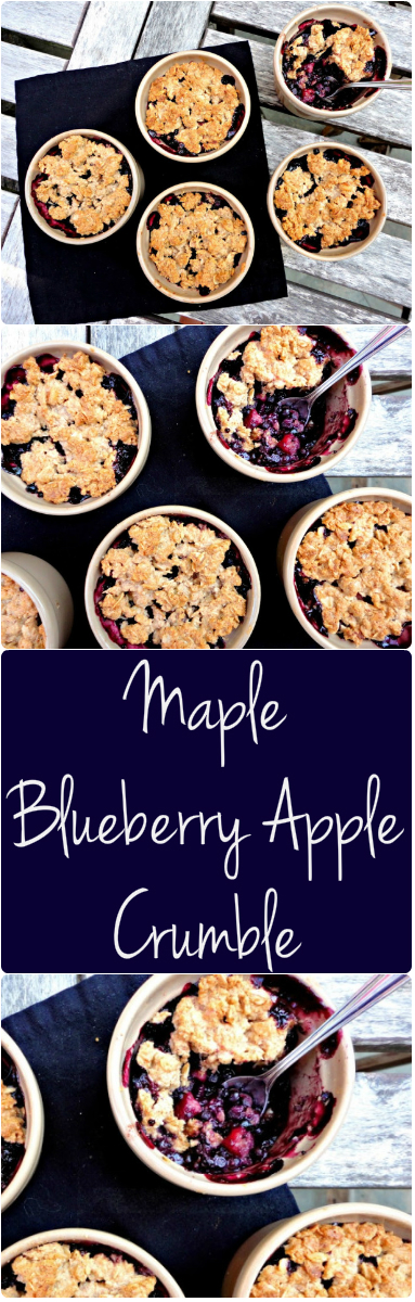 Maple Blueberry Apple Crumble Collage