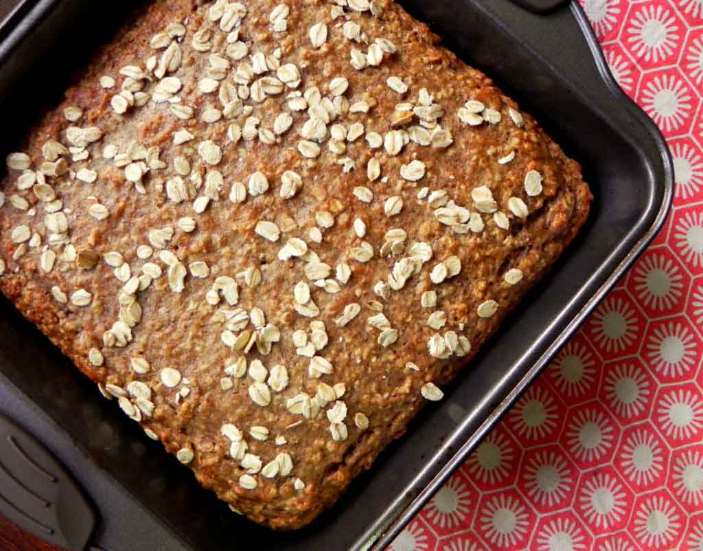 Vegan Banana Oat Bread {Healthy Vegan Oatmeal Banana Bread}