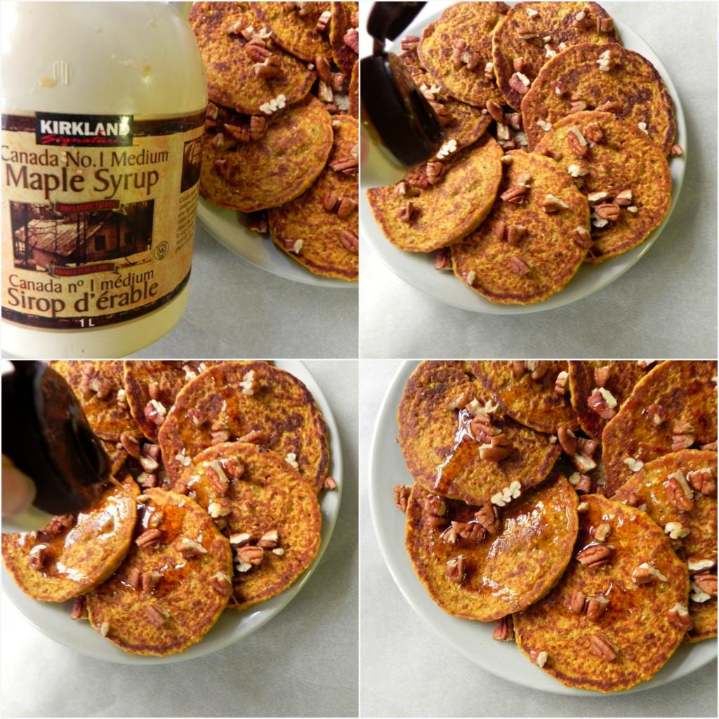 flourless pumpkin oat blender pancakes