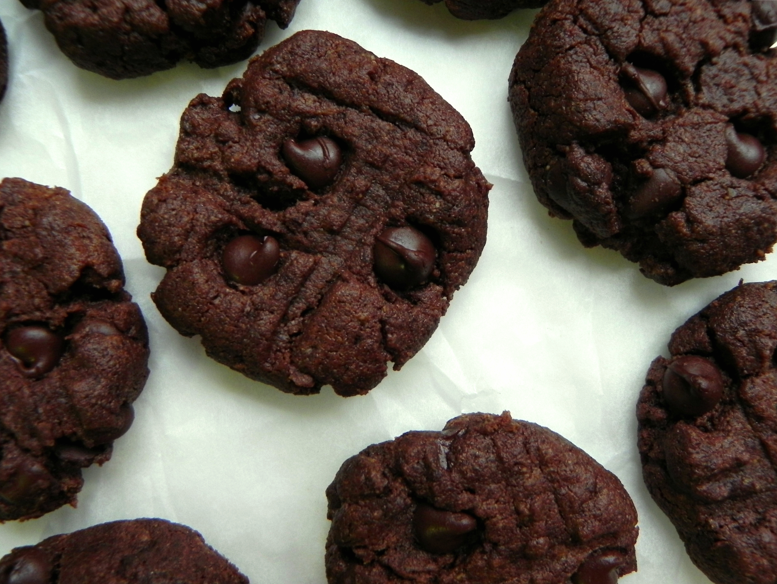 Chocolate Flourless Peanut Butter Cookies