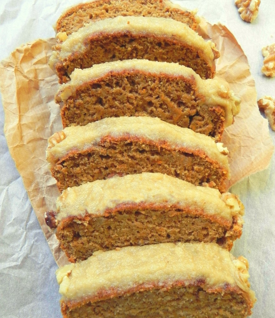 Healthy Vegan Carrot Cake with Cinnamon Cream Cheese Icing