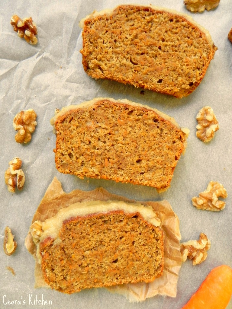 Healthy Vegan Carrot Cake with Cream Cheese Icing | Ceara ...