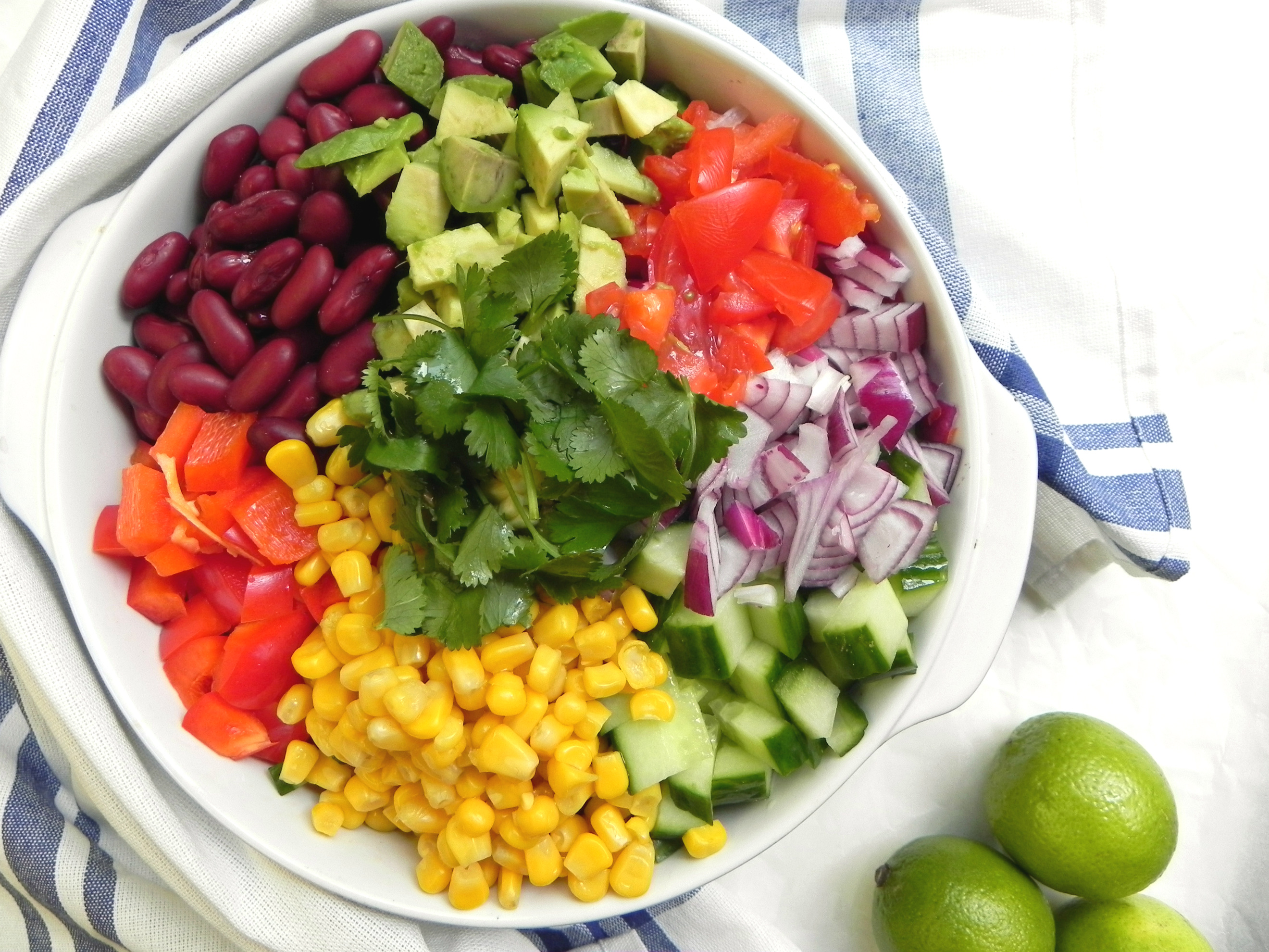 Colorful chopped rice salad v gf for Salas lunchs