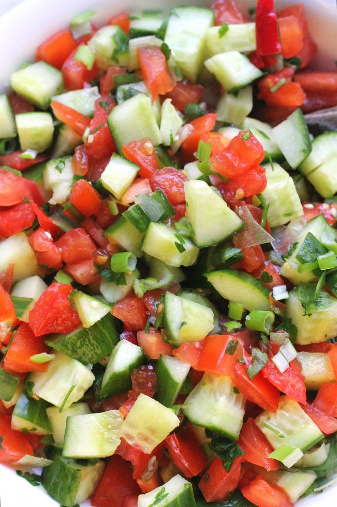 Mediterranean Cucumber Tomato Salad (Oil-Free!)