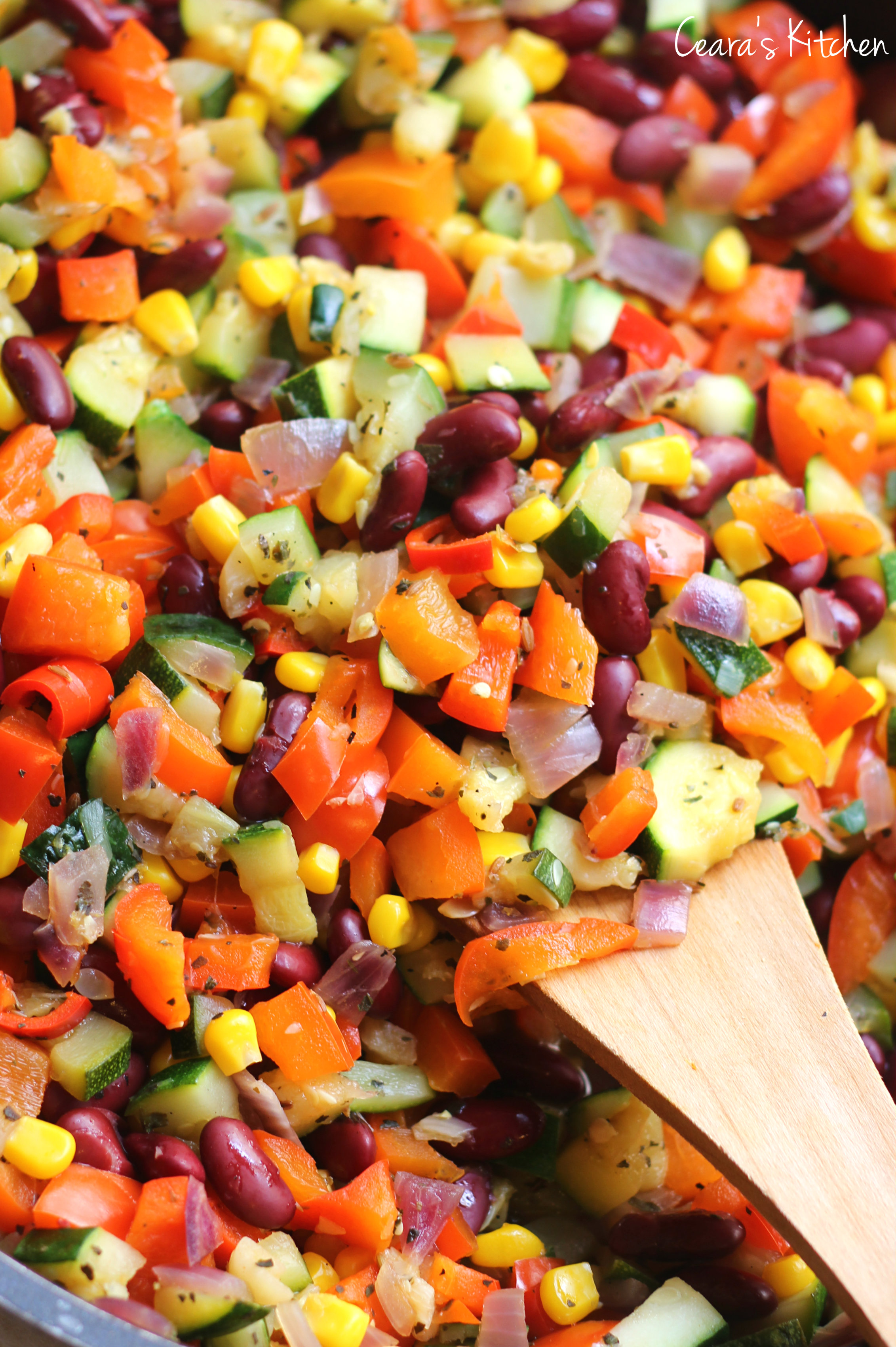 . Israeli Couscous Taco Salad. Grilled Eggplant and Red Pepper ...