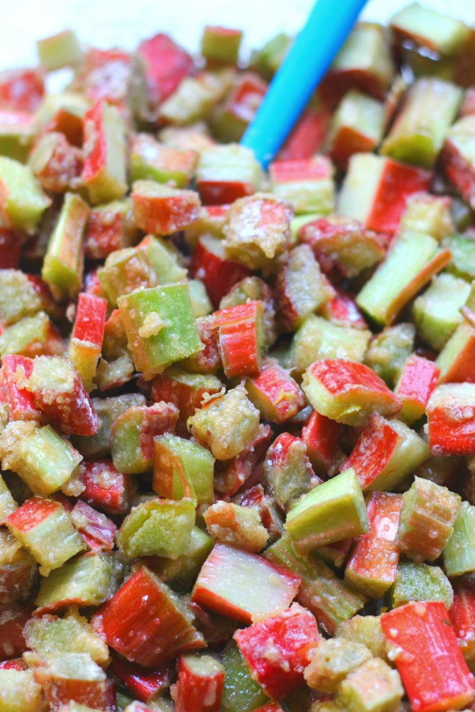 healthy rhubarb crisp