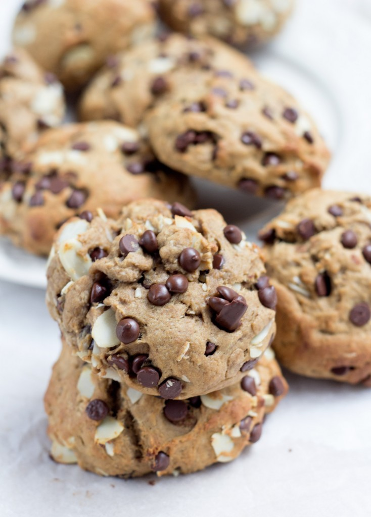 Chocolate Chip Banana Bread Muffins Tops Vegan