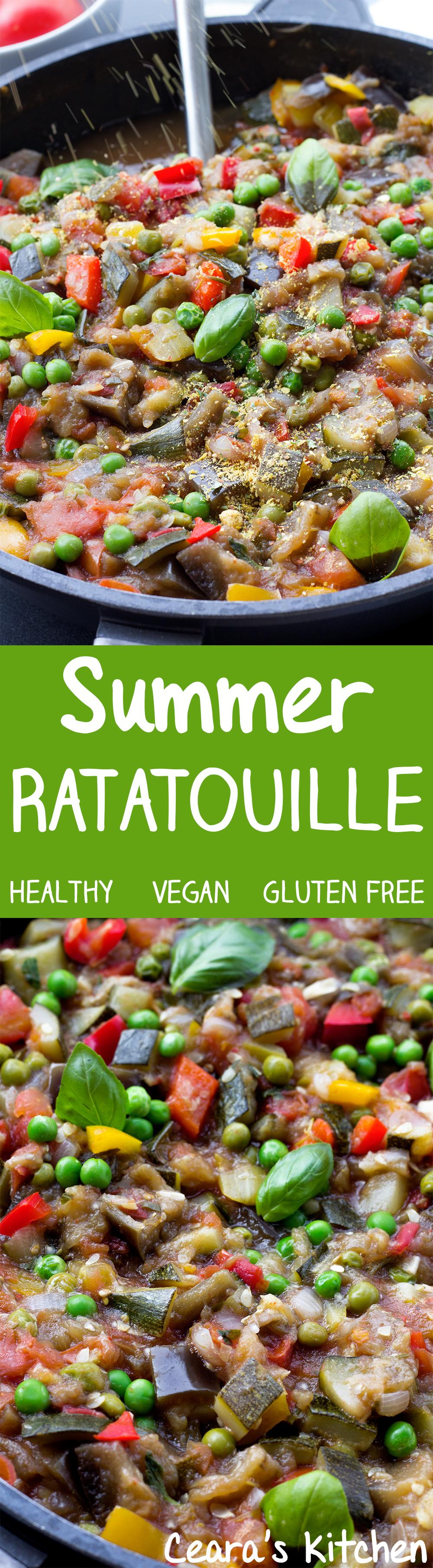 Summer Ratatouille Vegan Healthy Gluten Free made