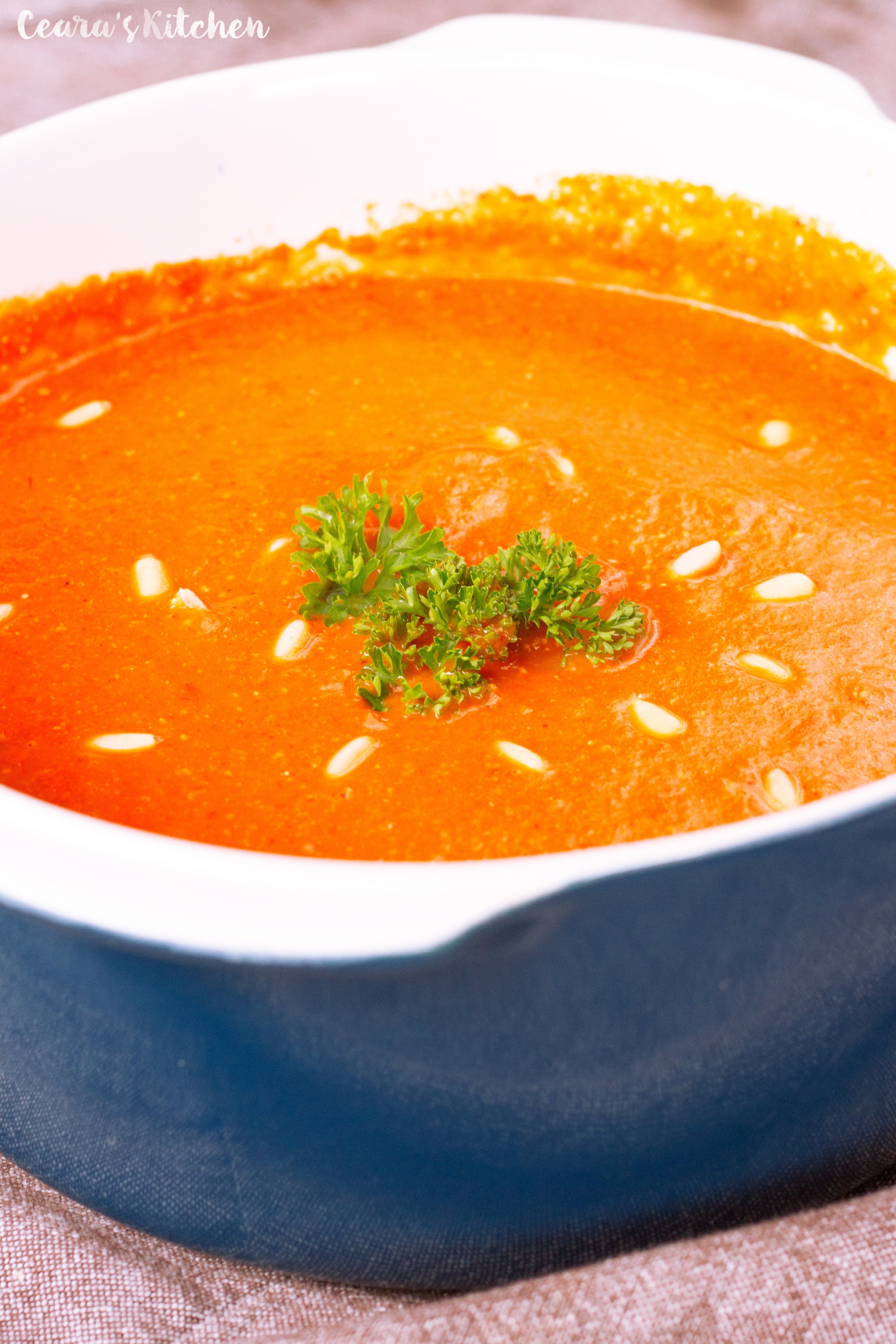 creamy healthy roasted red pepper soup