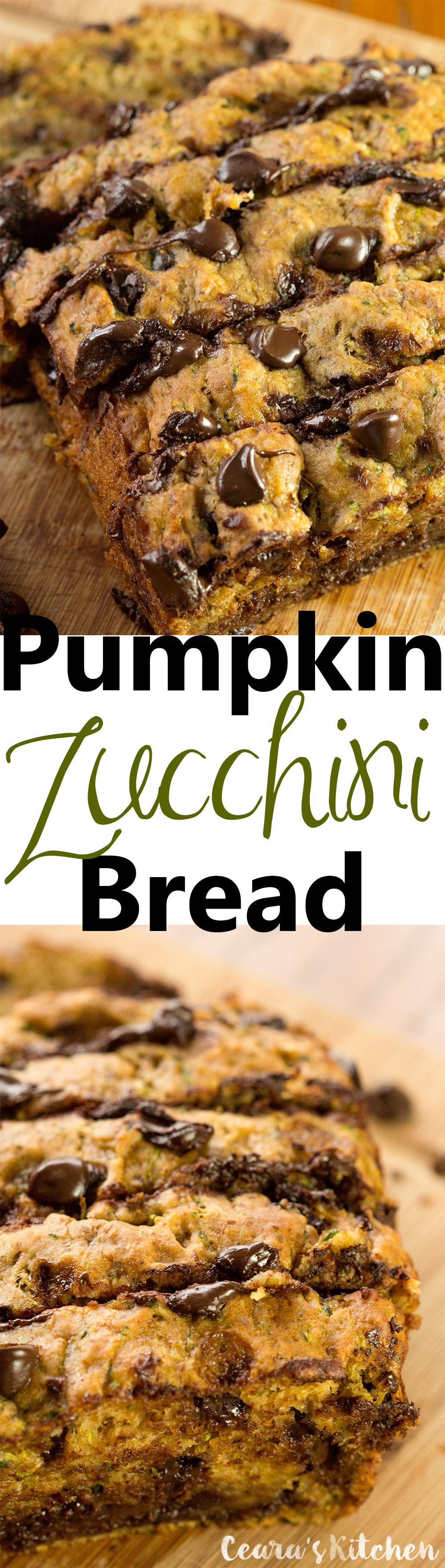 Vegan Healthy Chocolate Chip Pumpkin Bread recipe
