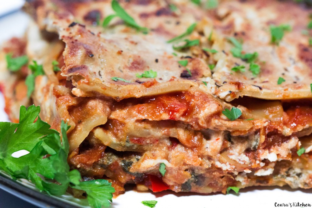 Vegan Lasagna made with whole, hearty and simple ingredients. Lasagna ...