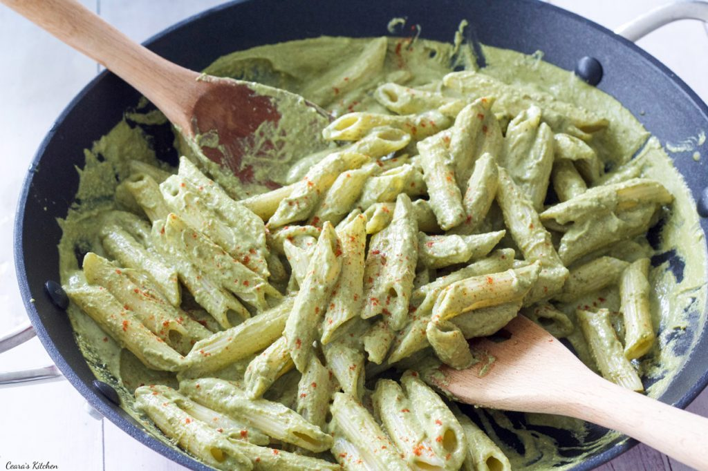 Vegan Creamy Pesto Pasta | Ceara's Kitchen