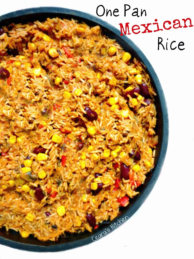 Vegetarian One Pan Mexican Rice (Healthy!)