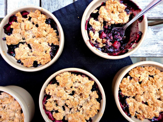 Blueberry crumble 1