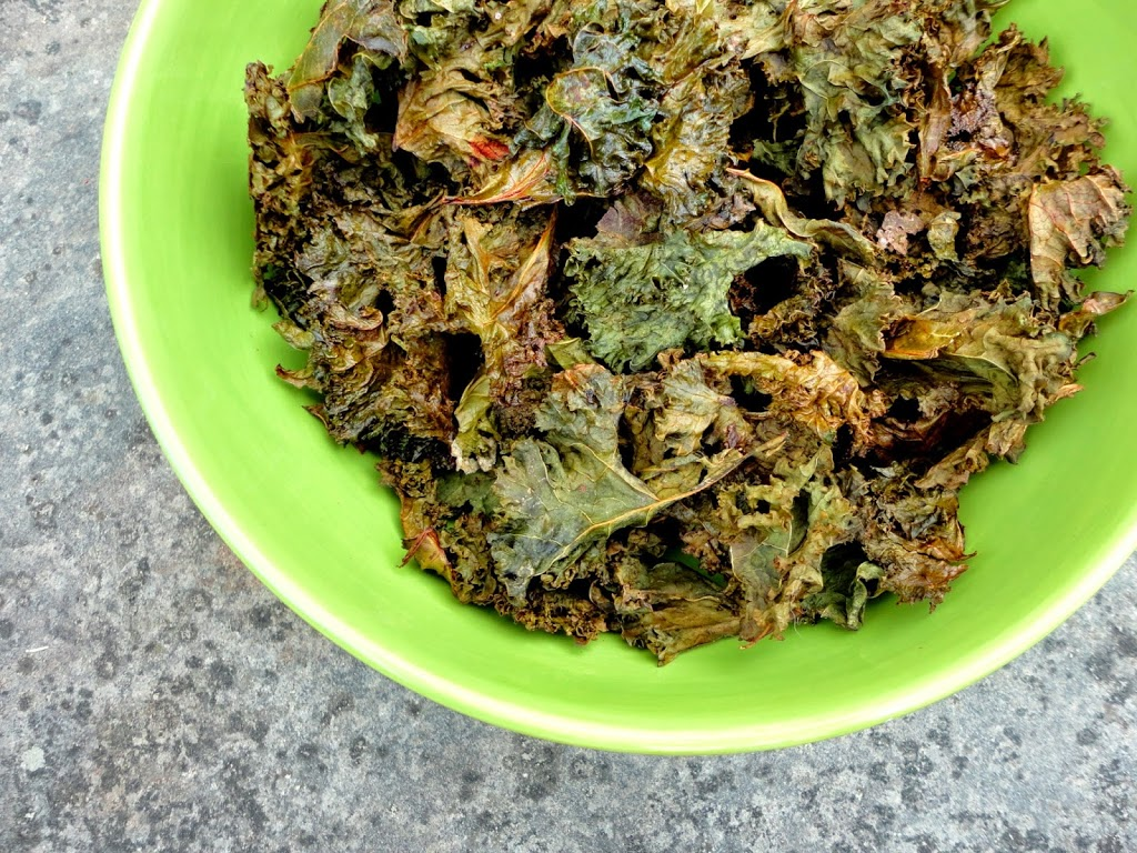 kale leaves from
