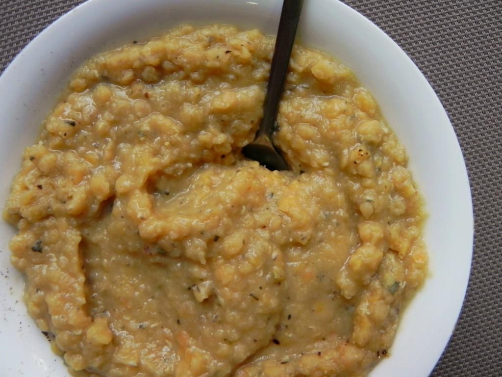 red lentil mash