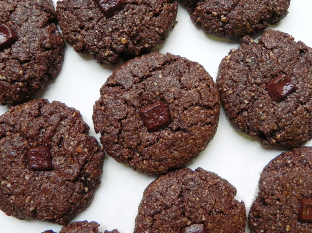 grain free double chocolate cookies