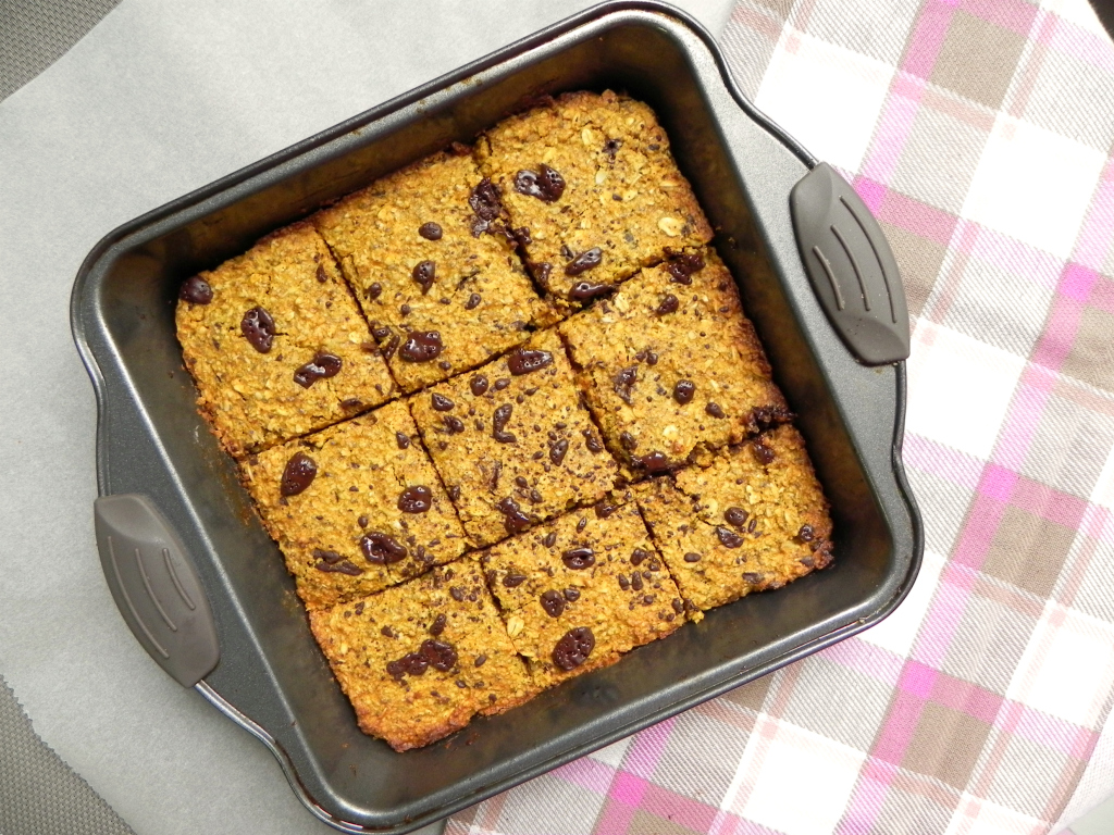 chocolate chunk pumpkin banana bars