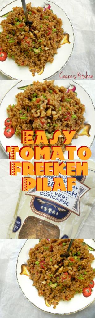 tomato freekeh pilaf