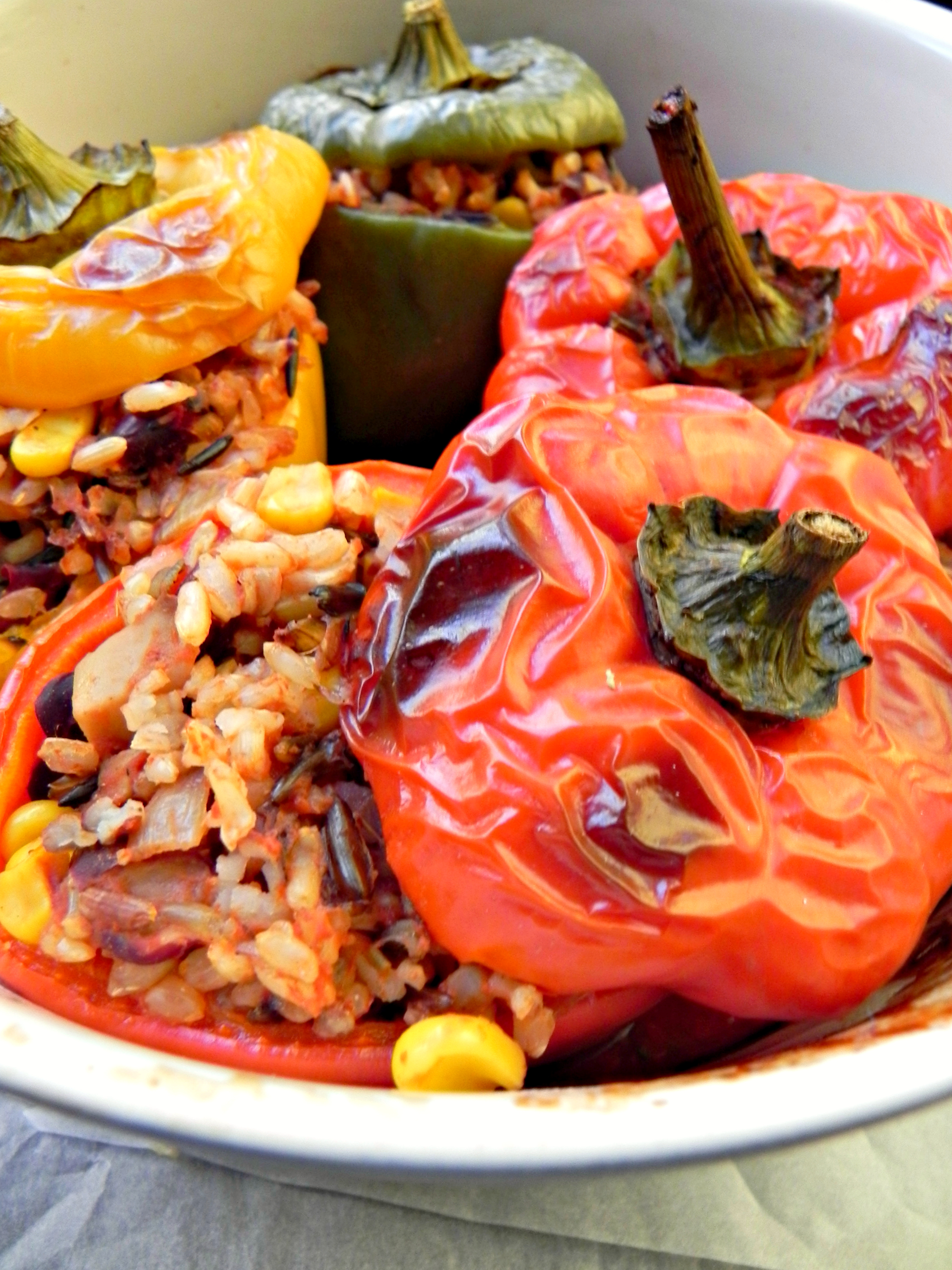 Vegan stuffed peppers these stuffed peppers forumfinder Gallery