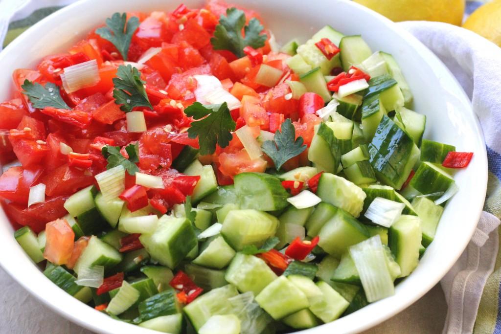 mediterranean cucumber tomato