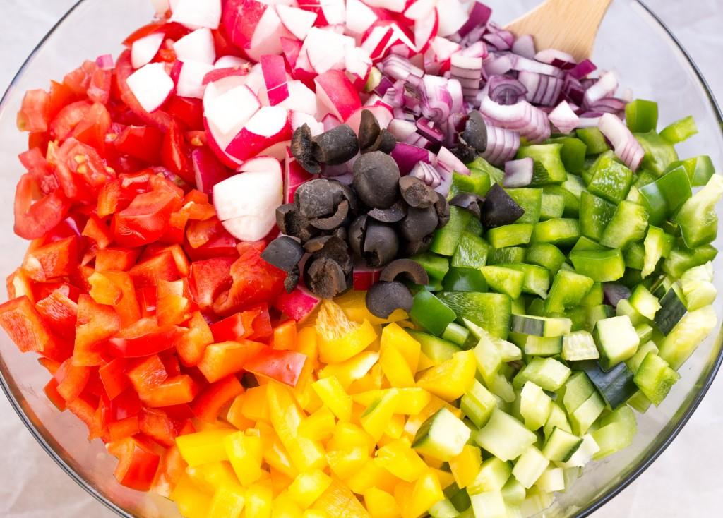 healthy rainbow pasta