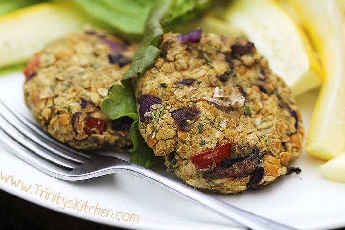 Chickpea-Burgers-on-plate