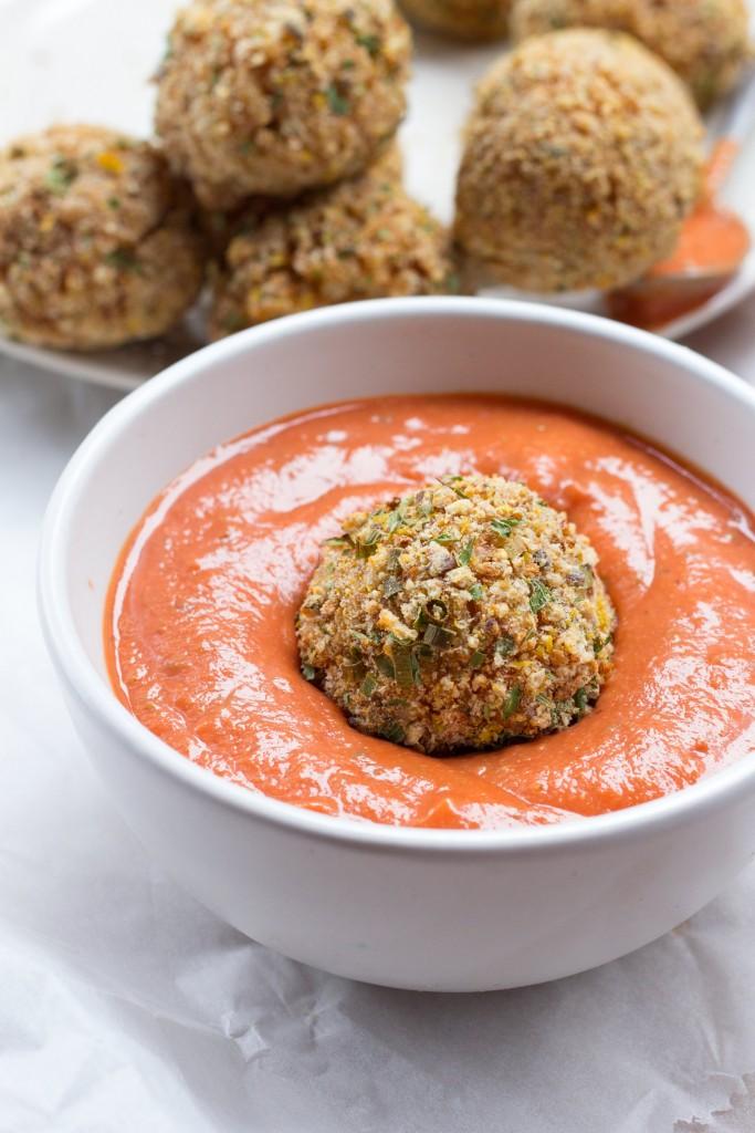 Baked italian rice balls arancini vegan gluten free baked italian rice balls healthy vegan gluten free forumfinder Image collections