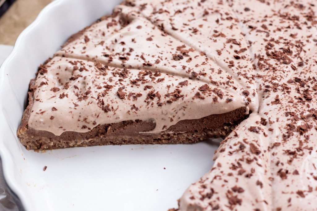 Vegan Chocolate Hazelnut PIe