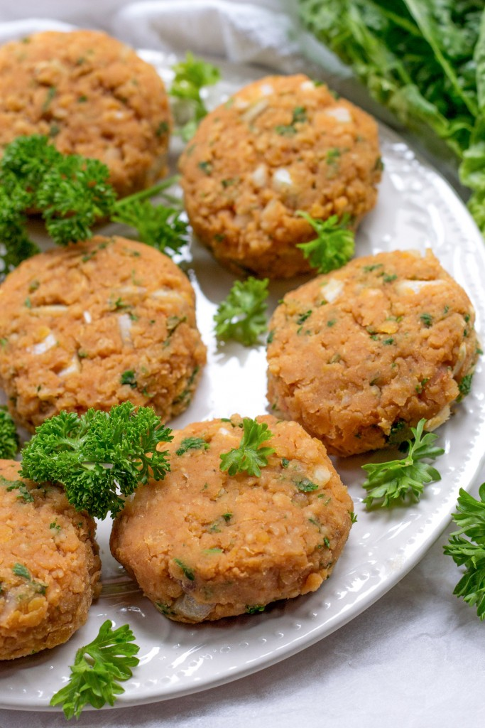 Red Lentil Kofta Patties Vegan