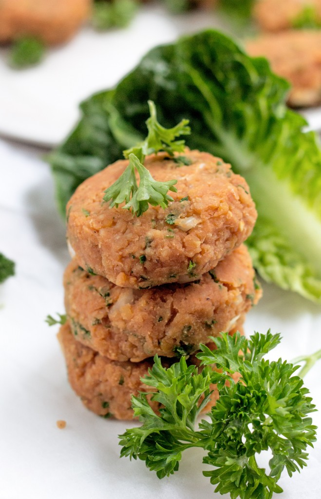 Red Lentil Kofta Patties Vegan recipe
