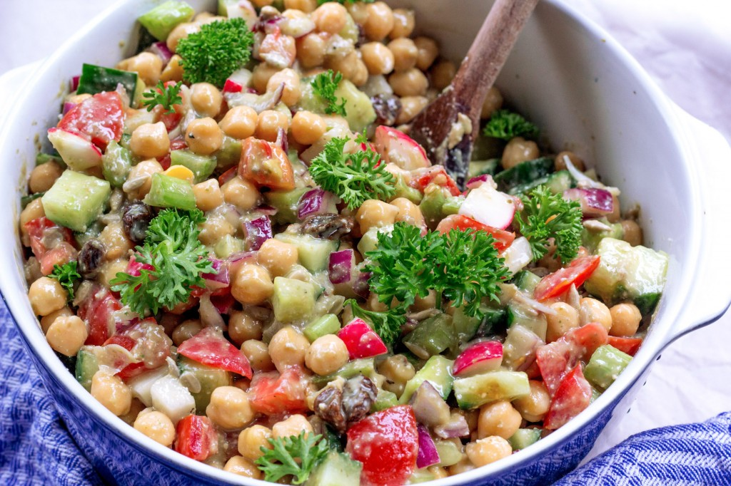 Creamy Chickpea Avocado Salad Gluten Free Vegan