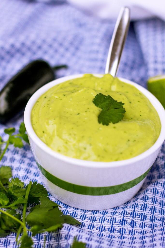 Creamy Zesty Avocado Dressing Vegan Healthy Gluten Free