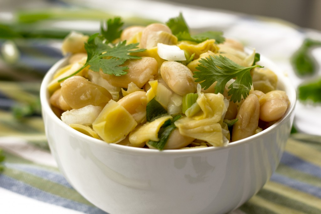 White Bean and Artichoke Salad Vegan Healthy Gluten Free