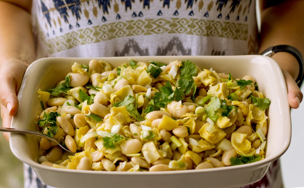White Bean and Artichoke Salad Vegan Healthy Gluten Free made