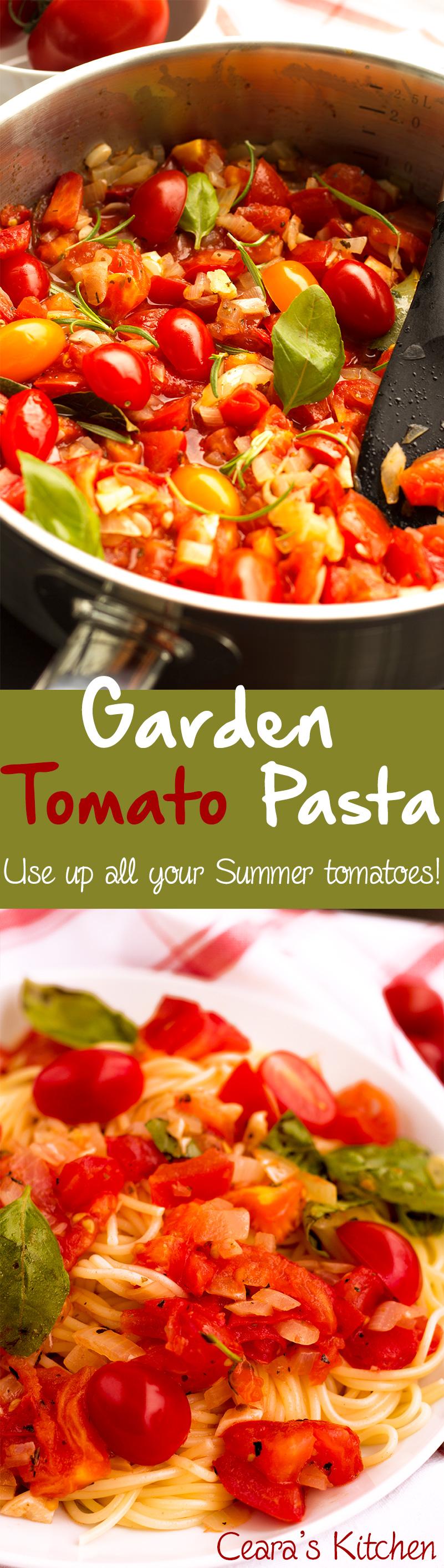 garden tomato pasta