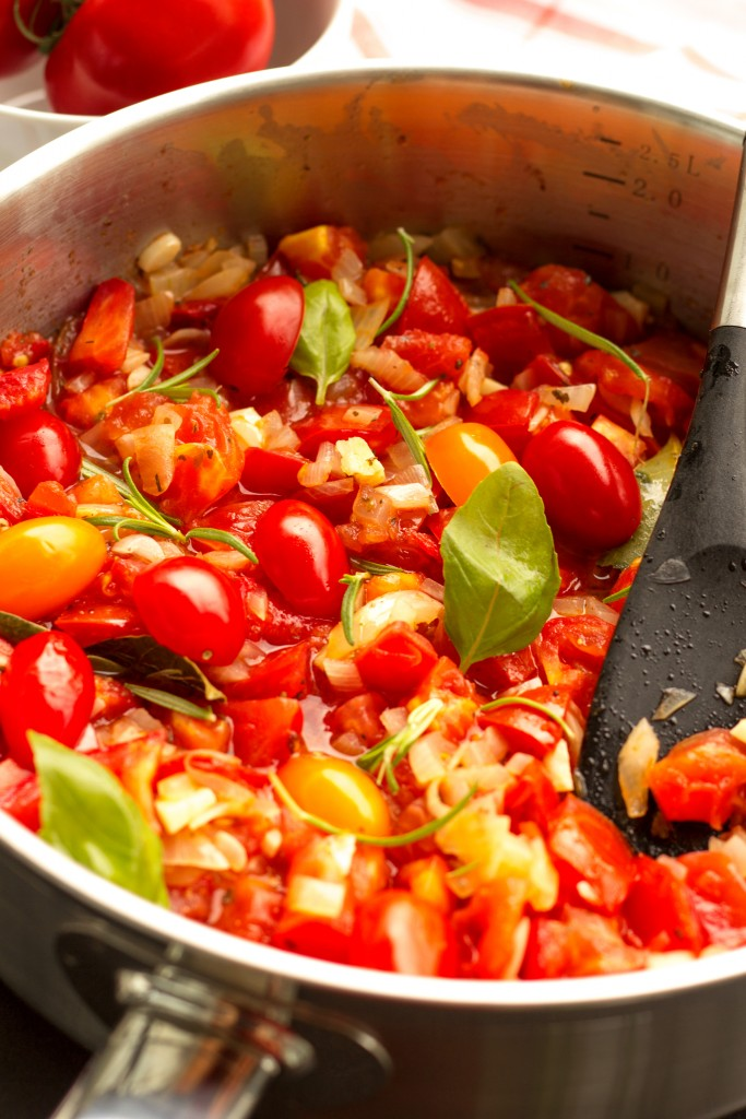 Garden Tomato Pasta Vegan Healthy