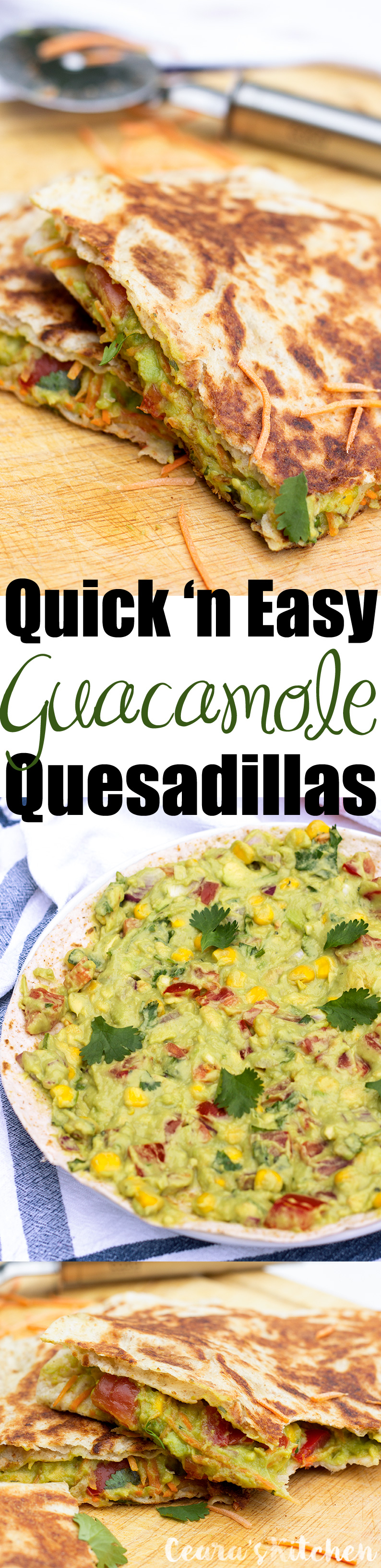 Quick and Easy Guacamole Quesadillas