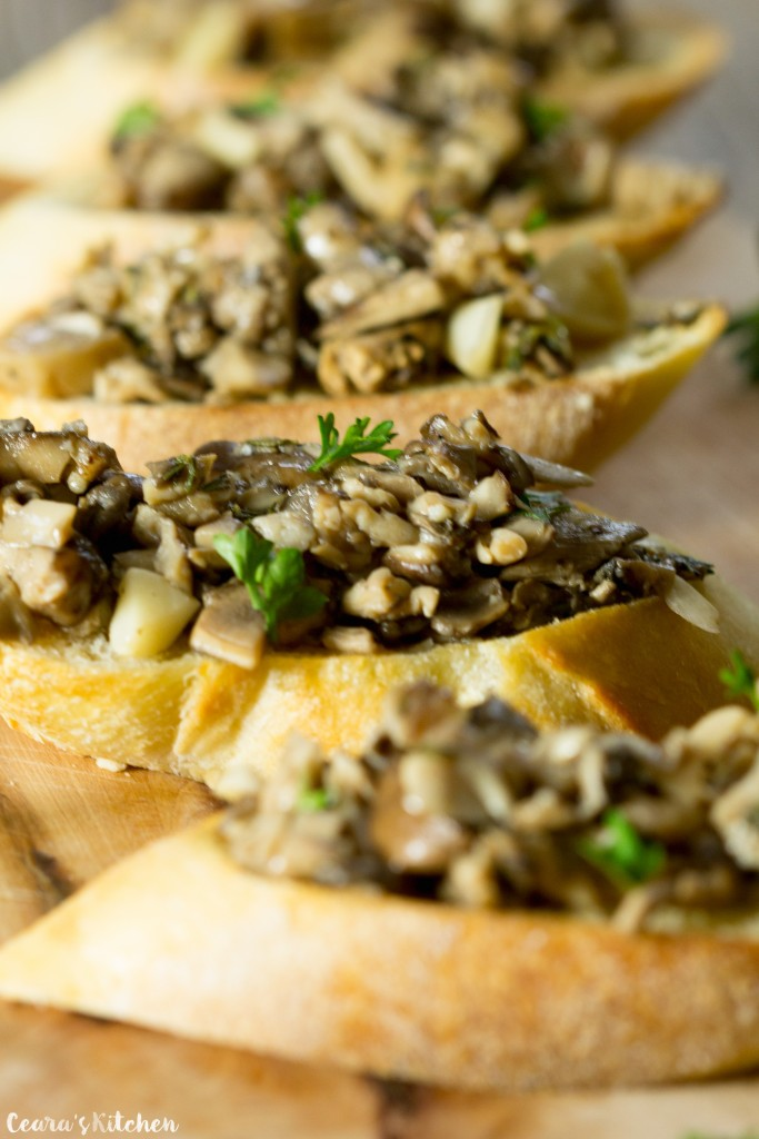 Roasted Garlic and Mushroom Bruschetta recipe