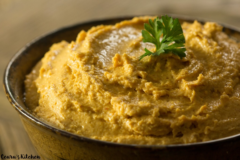 Vegan Roasted Garlic & Harissa Hummus recipe
