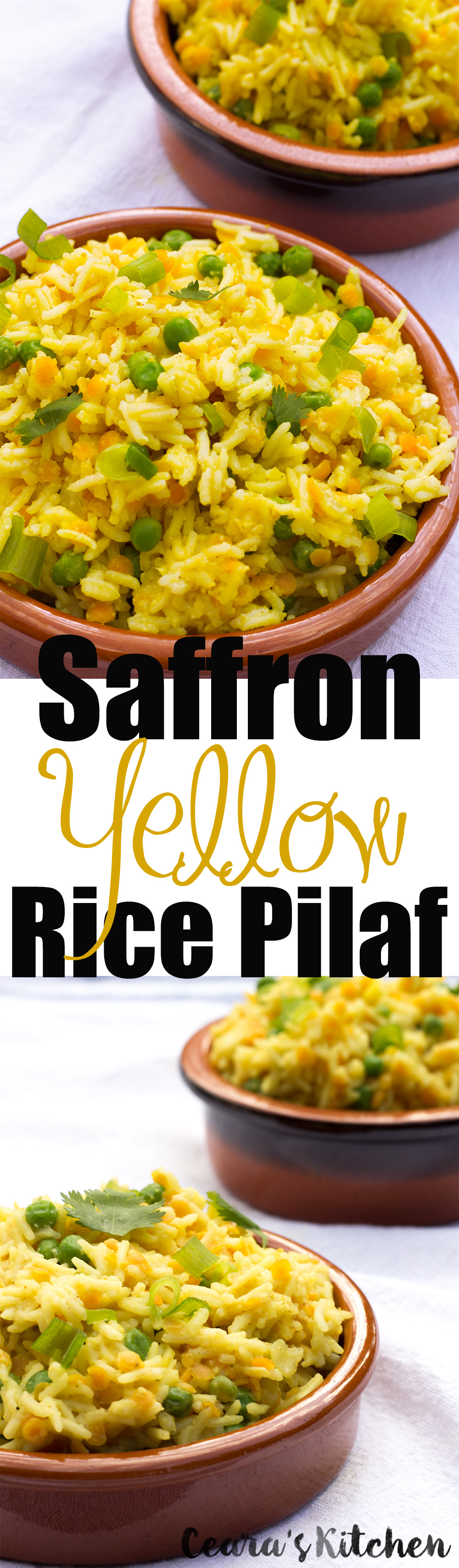 Indian Saffron Yellow Rice Vegan Gluten Free Healthy recipe
