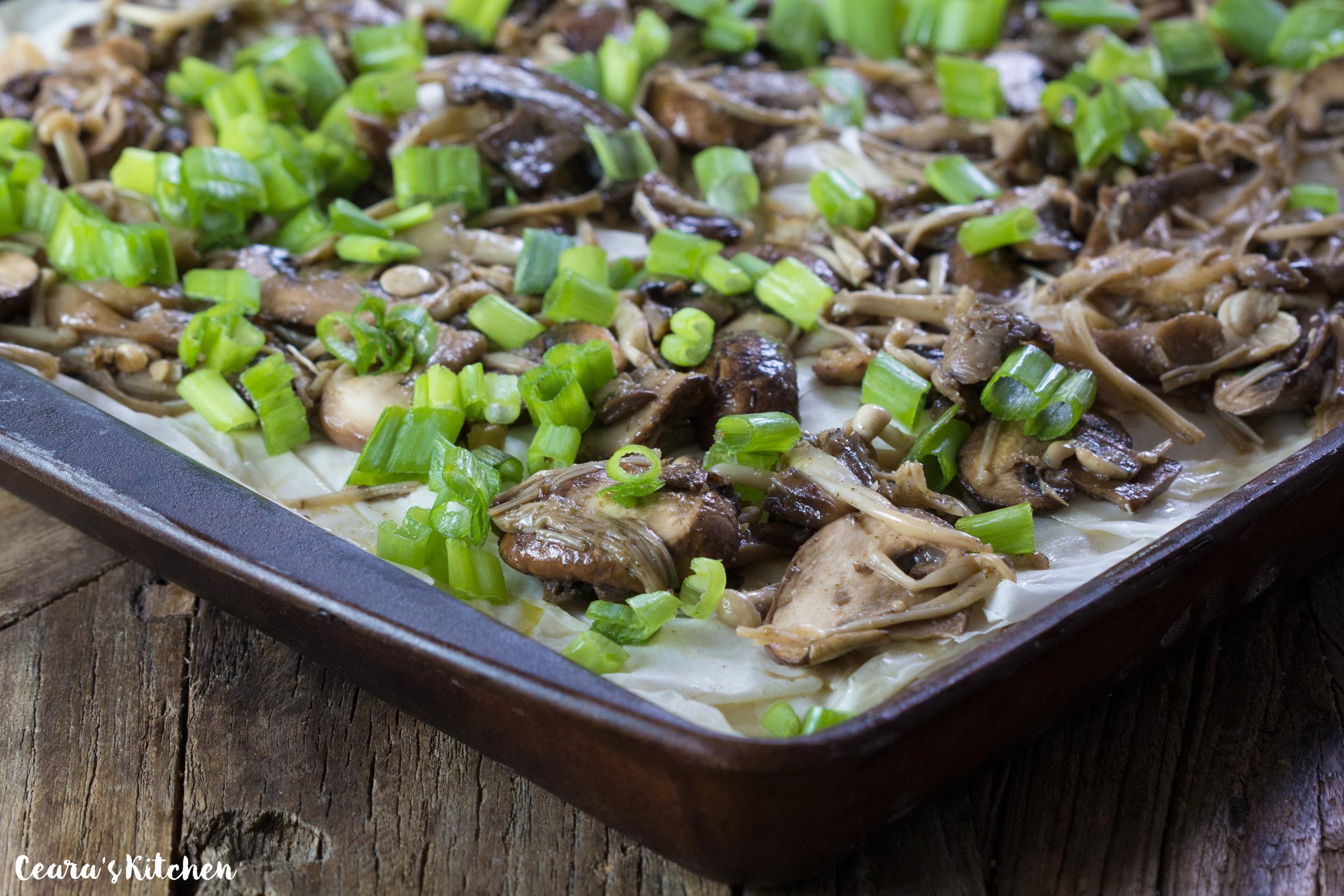 vegan walnut mushroom