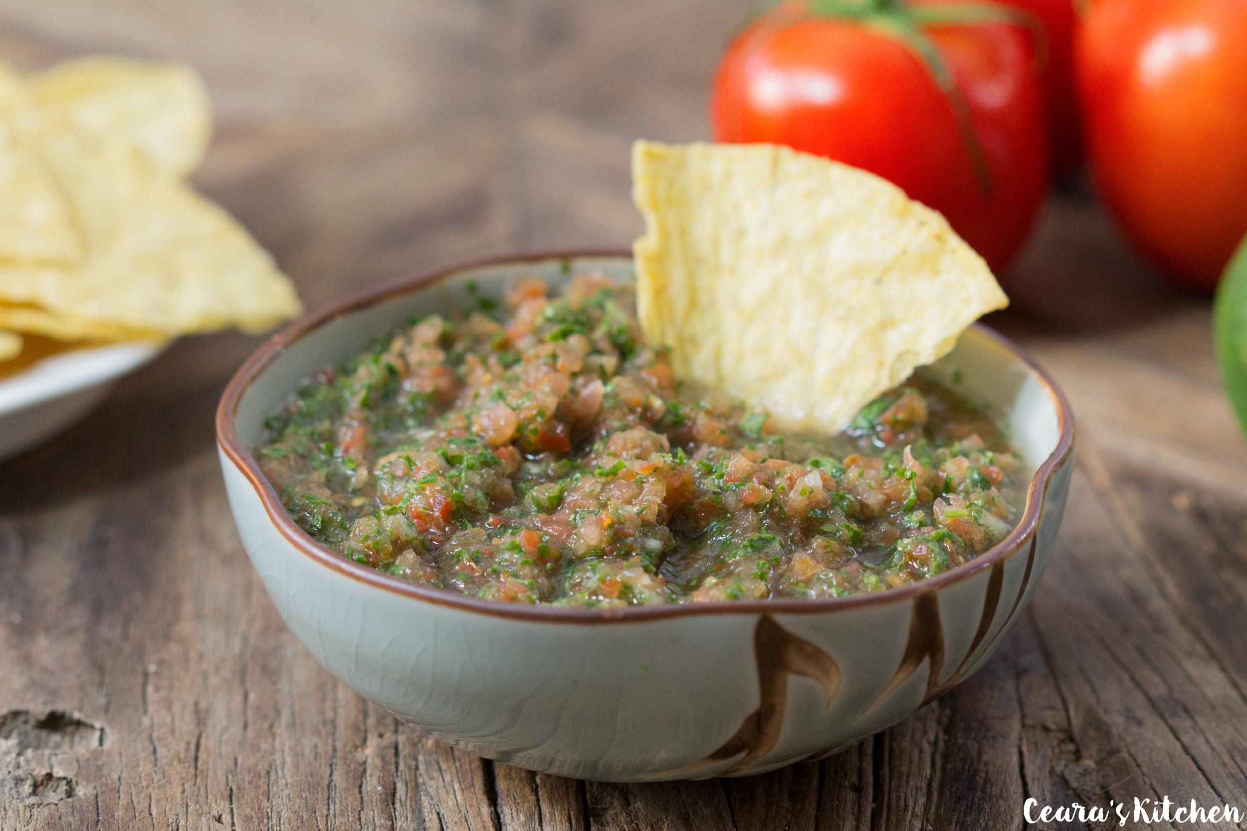 blender kale salsa recipe