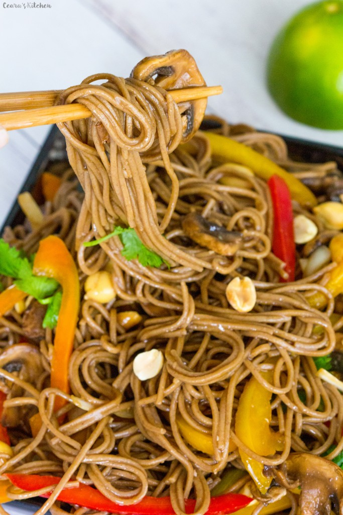 Simple Peanut Soba Noodles