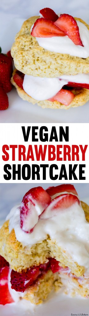vegan strawberry cake
