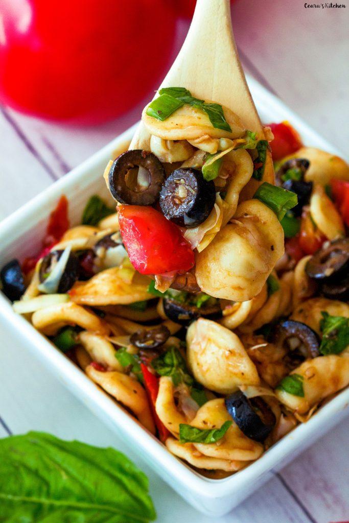 Healthy Orecchiette Pasta Salad