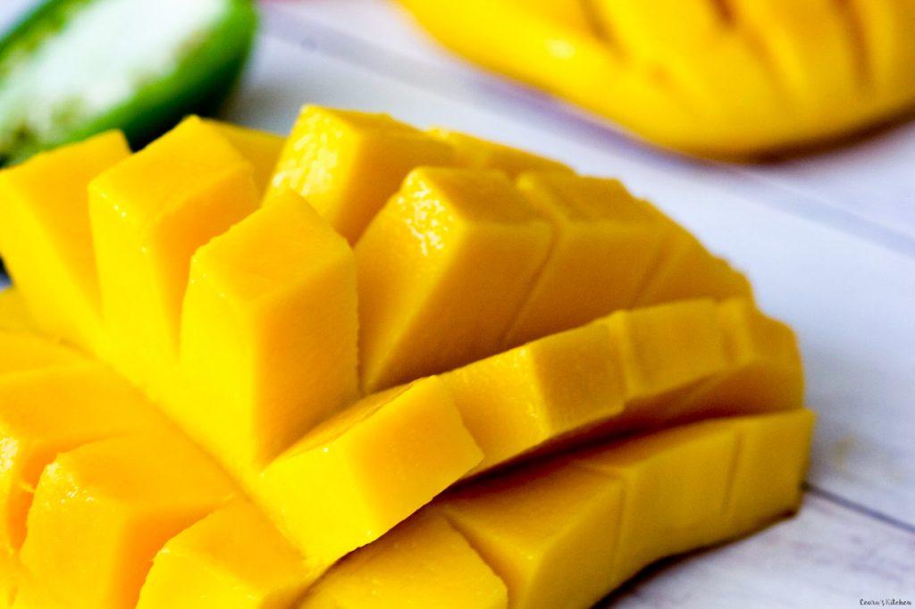 Mango Salsa lemon lime vinaigrette