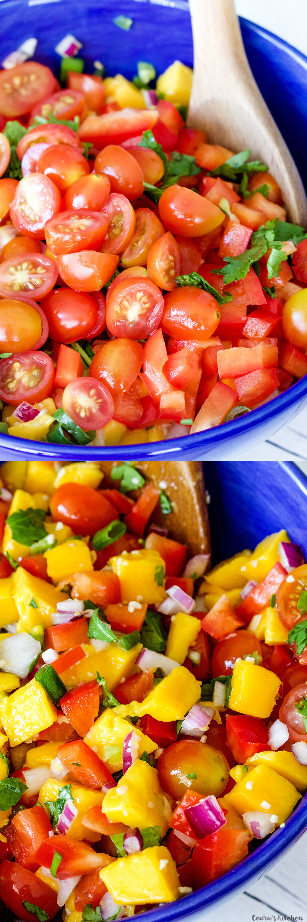 Mango Salsa lemon lime vinaigrette